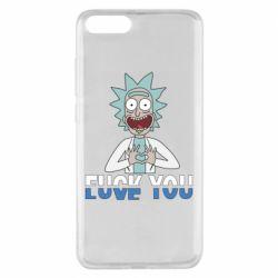 Чехол для Xiaomi Mi Note 3 Rick fuck you