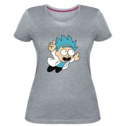 Женская стрейчевая футболка Rick is flying