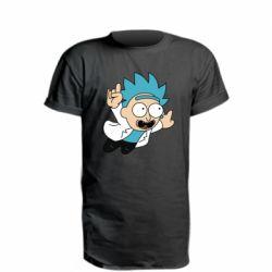 Удлиненная футболка Rick is flying