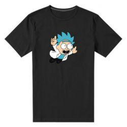 Мужская стрейчевая футболка Rick is flying