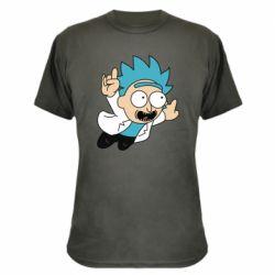 Камуфляжная футболка Rick is flying