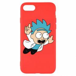 Чехол для iPhone 8 Rick is flying