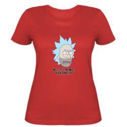 Женская футболка Rick live