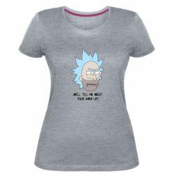 Женская стрейчевая футболка Rick live