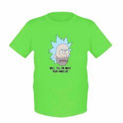 Детская футболка Rick live
