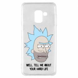 Чехол для Samsung A8 2018 Rick live