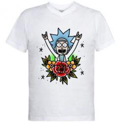 Чоловіча футболка з V-подібним вирізом Rick Tattoo