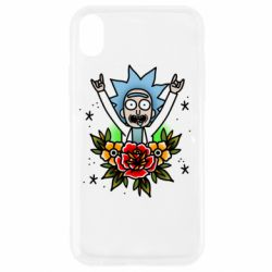 Чехол для iPhone XR Rick Tattoo