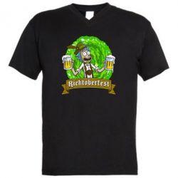 Мужская футболка  с V-образным вырезом Ricktoberfest