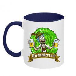 Кружка двухцветная 320ml Ricktoberfest