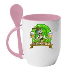 Кружка с керамической ложкой Ricktoberfest