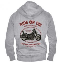 Чоловіча толстовка на блискавці Ride Or Die