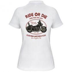 Жіноча футболка поло Ride Or Die