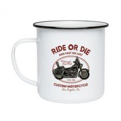 Кружка емальована Ride Or Die