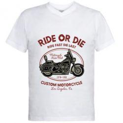 Чоловіча футболка з V-подібним вирізом Ride Or Die