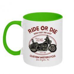 Кружка двоколірна 320ml Ride Or Die
