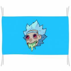 Флаг Рик и Морти арт дорисовка