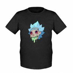 Детская футболка Рик и Морти арт дорисовка
