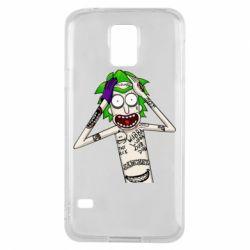 Чохол для Samsung S5 Рік і Морті образ Джокера