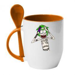 Кружка з керамічною ложкою Рік і Морті образ Джокера