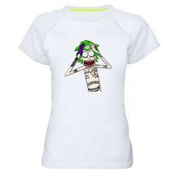 Жіноча спортивна футболка Рік і Морті образ Джокера