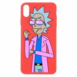 Чохол для iPhone Xs Max Рік і Морті рожевий плащ