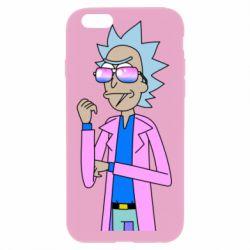 Чохол для iPhone 6 Plus/6S Plus Рік і Морті рожевий плащ