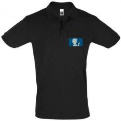 Мужская футболка поло Рик показывает средний, палец