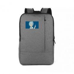 Рюкзак для ноутбука Рик показывает средний, палец