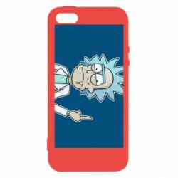 Чехол для iPhone5/5S/SE Рик показывает средний, палец