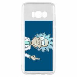 Чехол для Samsung S8 Рик показывает средний, палец