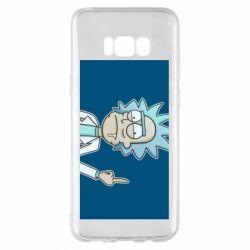 Чехол для Samsung S8+ Рик показывает средний, палец