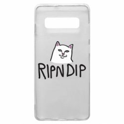 Чохол для Samsung S10+ Ripndip and cat