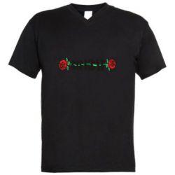 Мужская футболка  с V-образным вырезом RipnDip rose