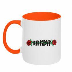 Кружка двухцветная 320ml RipnDip rose