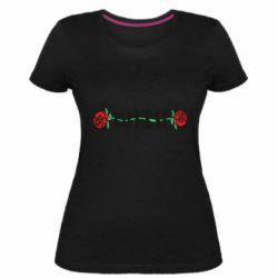 Женская стрейчевая футболка RipnDip rose