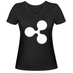 Жіноча футболка з V-подібним вирізом Ripple