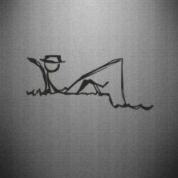 Наклейка Рисунок Рыбалка
