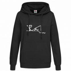Толстовка жіноча Рисунок Рыбалка
