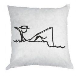 Подушка Рисунок Рыбалка