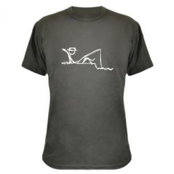 Камуфляжная футболка Рисунок Рыбалка