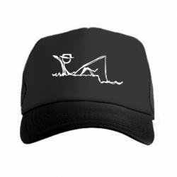 Кепка-тракер Рисунок Рыбалка
