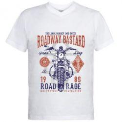 Чоловіча футболка з V-подібним вирізом Roadway Bastard