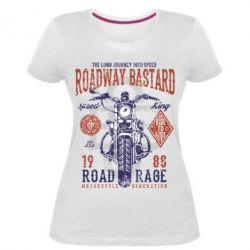 Жіноча стрейчева футболка Roadway Bastard