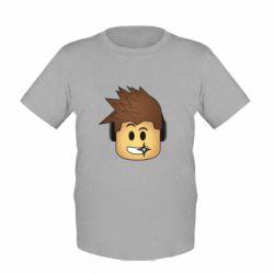 Детская футболка Roblox head