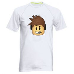 Мужская спортивная футболка Roblox head