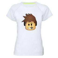Женская спортивная футболка Roblox head