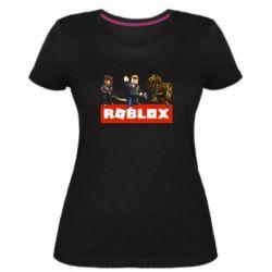 Женская стрейчевая футболка Roblox Heroes