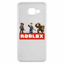 Чехол для Samsung A3 2016 Roblox Heroes