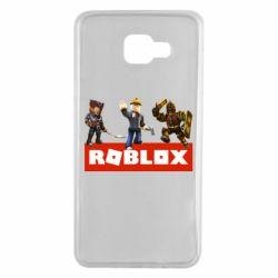 Чехол для Samsung A7 2016 Roblox Heroes